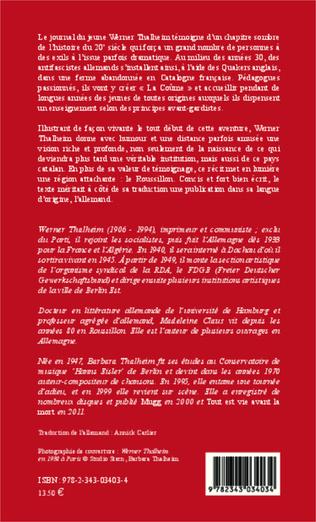 4eme Une communauté d'antifascistes allemands dans les Pyrénées orientales 1934-1937