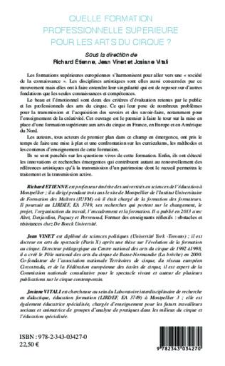 4eme Chapitre 1 : Les certifications dans les formations professionnelles artistiques en France : le cas du DNSP artiste de cirque.