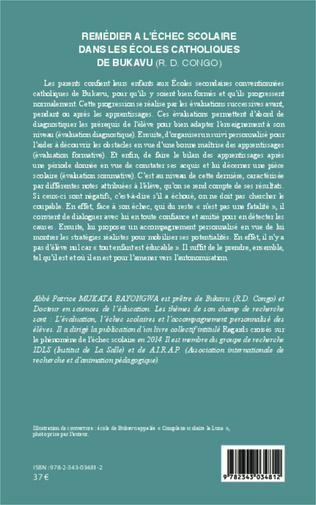 4eme Remédier à l'échec scolaire dans les écoles catholiques de Bukavu (R. D. Congo)