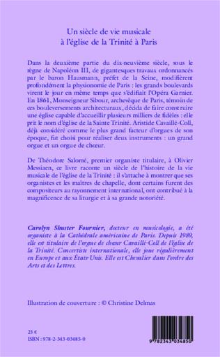 4eme Un siècle de vie musicale à l'église de la Trinité à Paris