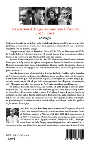 4eme Les écrivains de langue italienne sous le fascisme