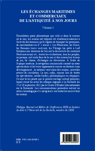4eme Les échanges maritimes et commerciaux de l'Antiquité à nos jours - Volume 1