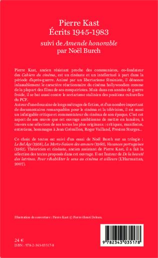 4eme Pierre Kast Écrits 1945-1983