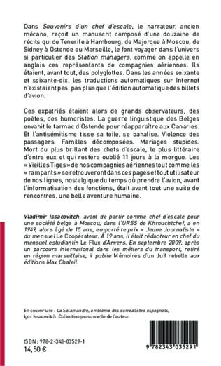 4eme Souvenirs d'un chef d'escale  Belge juif polyglotte, en Flandre ou ailleurs (récits)