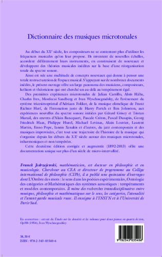 4eme Dictionnaire des musiques microtonales