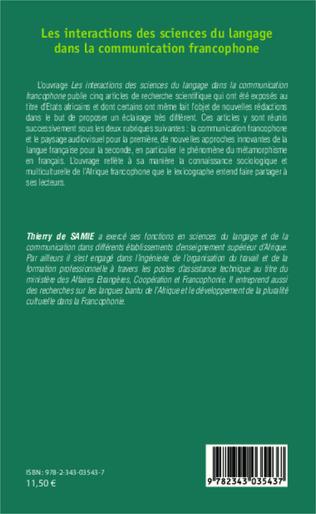 4eme Les interactions des sciences du langage dans la communication francophone
