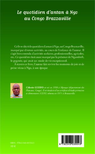 4eme Le quotidien d'antan à Ngo au Congo-Brazzaville