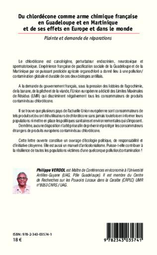 4eme Du chlordécone comme arme chimique française en Guadeloupe et en Martinique et de ses effets en Europe et dans le monde