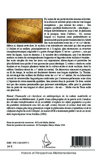 4eme La culture orale commune à Malte et à la Tunisie