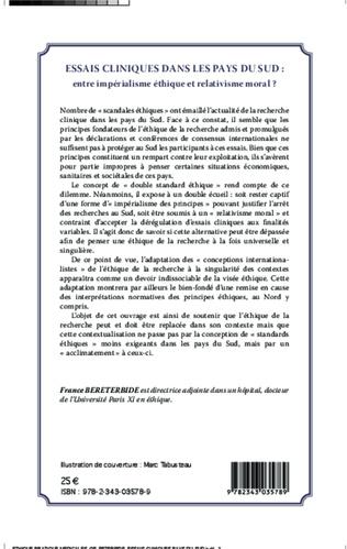 4eme Essais cliniques dans les pays du Sud : entre impérialisme éthique et relativisme moral ?