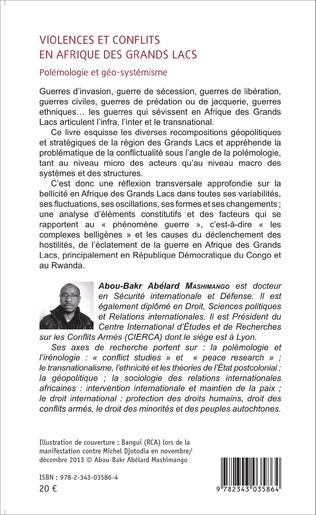 4eme Violences et conflits en Afrique des Grands Lacs