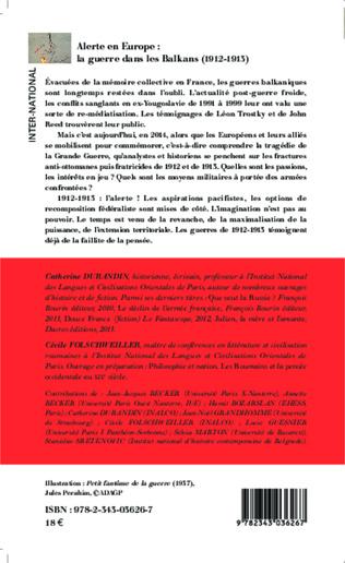4eme Alerte en Europe : le guerre dans les Balkans (1912-1913)