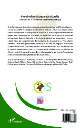 4eme Cahiers Internationaux de Sociolinguistique
