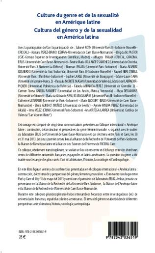 4eme Culture du genre et de la sexualité en Amérique latine
