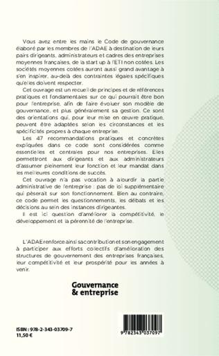 4eme Code de gouvernance des entreprises moyennes françaises