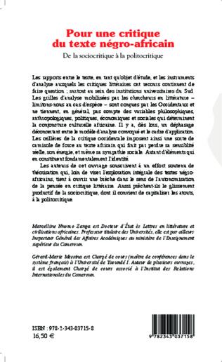4eme Pour une critique du texte négro-africain
