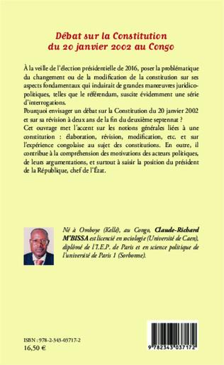 4eme Débat sur la Constitution du 20 janvier 2002 au Congo