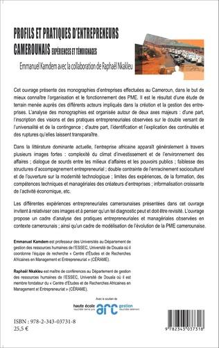 4eme Profils et pratiques d'entrepreneurs camerounais