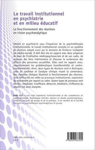4eme Le travail institutionnel en psychiatrie et en milieu éducatif