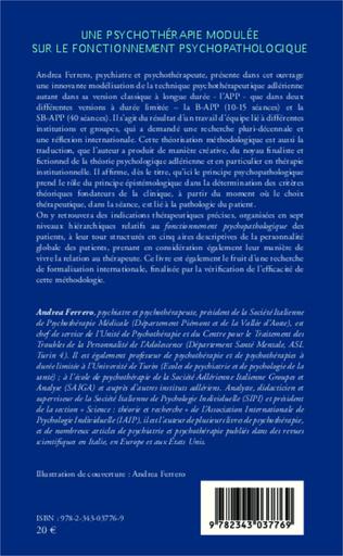 4eme Une psychothérapie modulée sur le fonctionnement psychopathologique