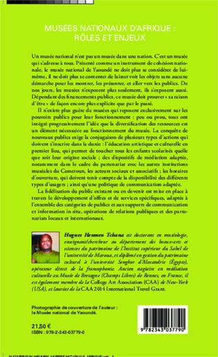 4eme Musées nationaux d'Afrique : rôles et enjeux
