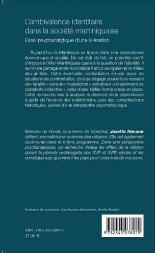 4eme L'ambivalence identitaire dans la société martiniquaise