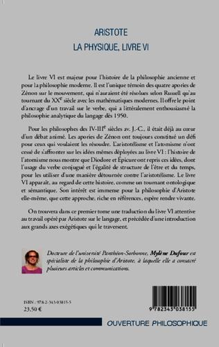 4eme Aristote La Physique, livre VI
