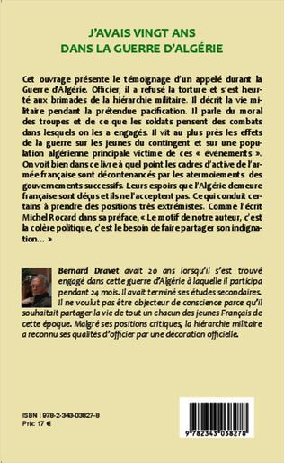 4eme J'avais vingt ans dans la guerre d'Algérie