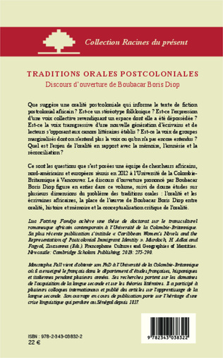 4eme Traditions orales postcoloniales