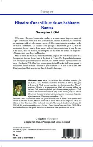 4eme Histoire d'une ville et de ses habitants : Nantes