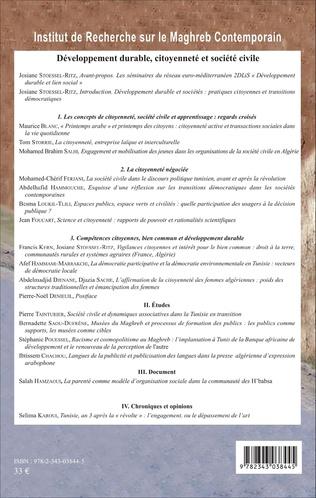 4eme Développement durable, citoyenneté et société civile