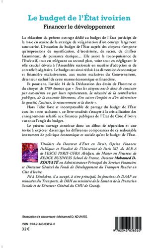 4eme Le budget de l'Etat ivoirien