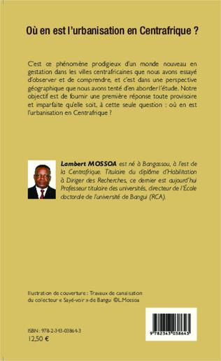 4eme Où en est l'urbanisation en Centrafrique ?
