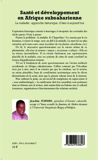 4eme Santé et développement en Afrique subsaharienne