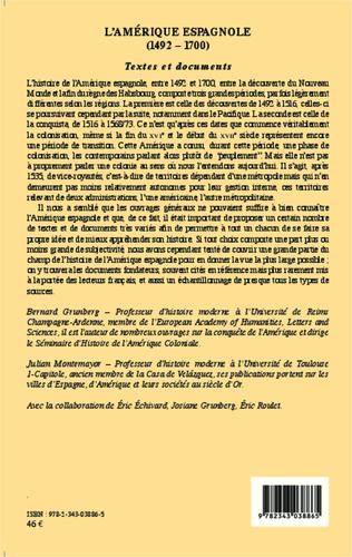 4eme L'Amérique espagnole (1492-1700)