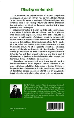 4eme L'Ahmadiyya : un islam interdit