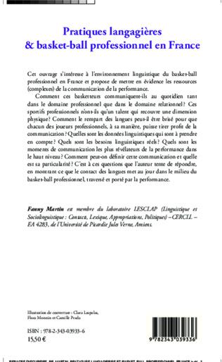 4eme Pratiques langagières et basket-ball professionnel en France