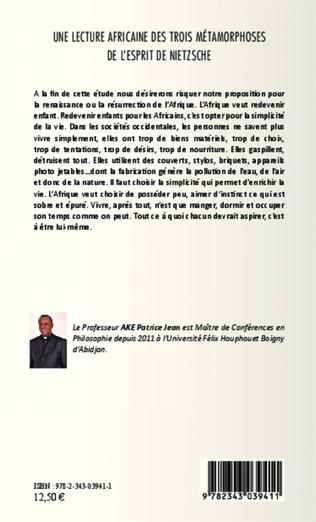 4eme Une lecture africaine des trois métamorphoses de l'esprit de Nietzsche