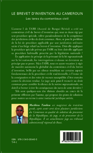 4eme Le brevet d'invention au Cameroun