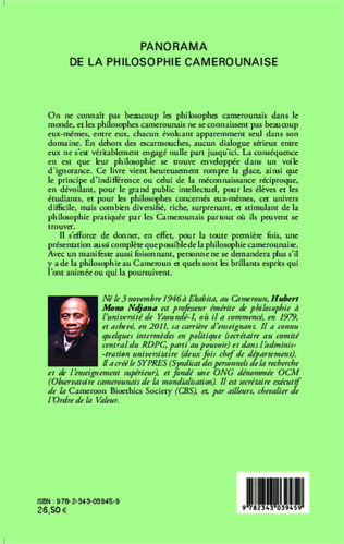 4eme Panorama de la philosophie au Cameroun