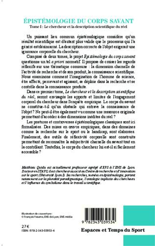 4eme Epistémologie du corps savant