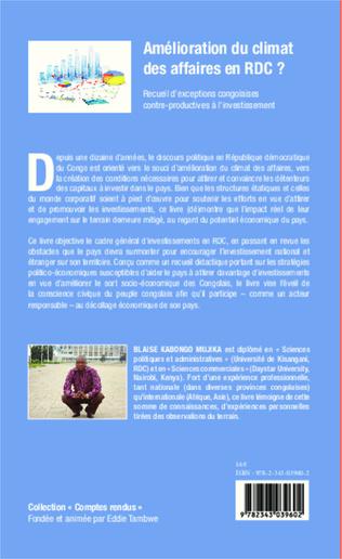 4eme Amélioration du climat des affaires en RDC ?
