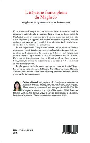 4eme Littérature francophone du Maghreb