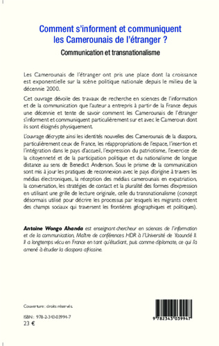 4eme Comment s'informent et communiquent les Camerounais de l'étranger ?