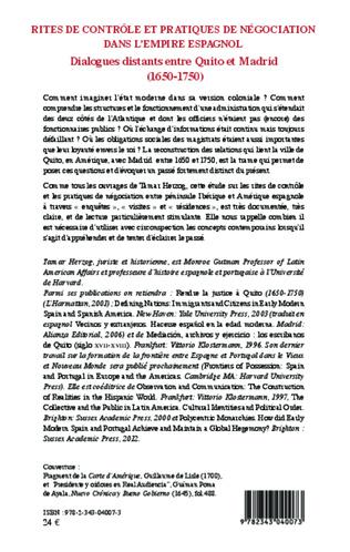 4eme Rites de contrôle et pratiques de négociation dans l'empire espagnol