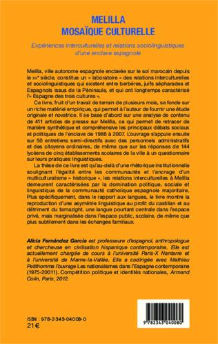 4eme Melilla mosaïque culturelle
