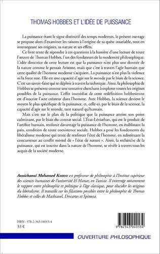 4eme Thomas Hobbes et l'idée de puissance