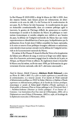 4eme Ce que le Maroc doit au Roi Hassan II