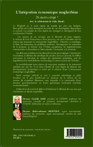 4eme L'intégration économique maghrébine