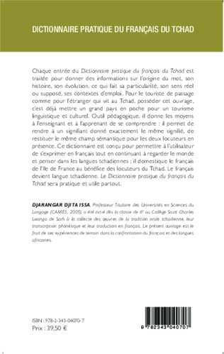 4eme Dictionnaire pratique du français du Tchad